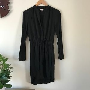 Gap Black Shirt Dress with Tie Front